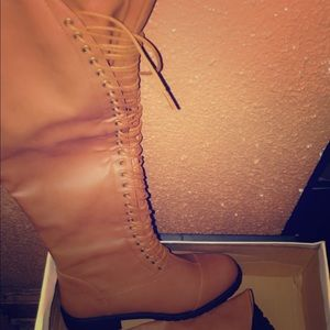 Thigh High Lace Up Boots